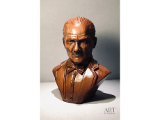 Atatürk Ahşap Oyma Büst